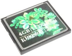 Карта памяти CompactFlash (CF), 4Gb, Kingston, 133X