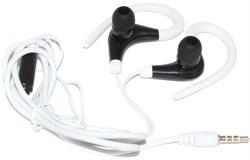 Универсальные спортивные наушники (гарнитура) с микрофоном, для телефона, белые