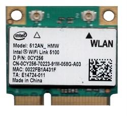 Внутренний модуль WiFi для ноутбука, Intel 5100 N802.11N (Mini PCI-E), 512AN-HMW