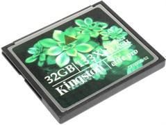 Карта памяти CompactFlash (CF), 32Gb, Kingston, 133X