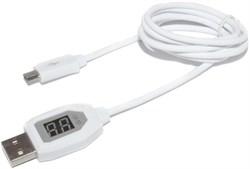 Кабель USB - Micro USB для зарядки и передачи данных, с вольтметром и амперметром, 1 метр