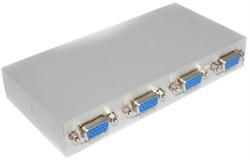 VGA - сплиттер на 4 монитора (разветвитель), с усилителем и питанием