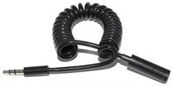 Кабель аудио, удлинитель, Mini Jack 3.5 (папа) - Mini Jack 3.5 (мама), 1 метр