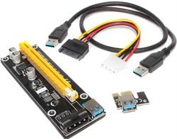 Райзер (переходник, адаптер) с PCI-E 1x на PCI-E 16x (с кабелем USB)