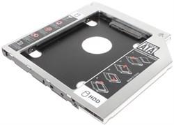 """Адаптер оптибей (optibay) 9.5мм для установки HDD 2,5"""" SATA в ноутбук вместо CD-ROM"""