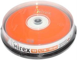 Диски для записи (болванки), DVD+R, 4.7 Gb, 16x, Mirex, упаковка 10 штук