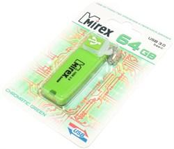Флешка (флеш - накопитель) USB 3.0, 64 Gb, Mirex Chromatic Green