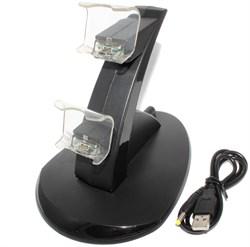 Зарядная станция (док-станция) для двух джойстиков PlayStation 4 (PS4)