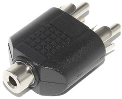 "Переходник (разветвитель) Mini Jack 3.5 мм ""стерео"" ""мама"" - 2 x RCA ""Тюльпан"" ""папа"""