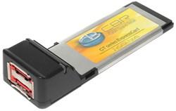 Переходник (контроллер) ExpressCard - 2 x eSATA, Sil3132