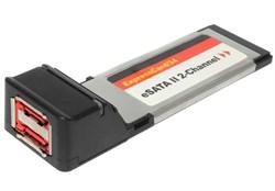 Переходник (контроллер) ExpressCard - 2 x eSATA II, APIOTEK