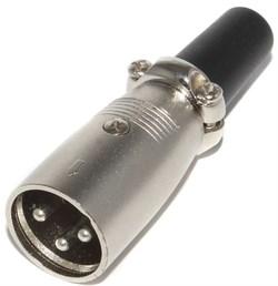 """Разъём XLR 3P (3 Pin), """"папа"""" (""""штекер""""), на кабель"""