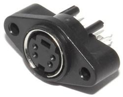"Разъём S-Video (Mini-DIN) 4 pin ""гнездо"", с креплением на корпус"