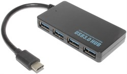 USB - концентратор (разветвитель, переходник, хаб) USB Type C - USB 3.0, 4 порта