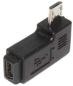 "Переходник Micro USB ""папа"" - Mini USB ""мама"", угловой, правый, 90 градусов"