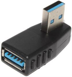 """Угловой переходник USB 3.0 AM """"папа"""" - USB 3.0 AF """"мама"""", 90 градусов, правый"""
