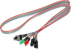 Кнопка включения (сброса) компьютера, (Power / Reset), с кабелем и светодиодами