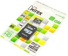 Карта памяти MicroSD, 8 Gb, Class 10, Mirex (с SD - адаптером)
