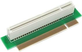 Райзер (переходник) угловой, PCI - PCI 32 bit, левосторонний, 90 градусов, мама - папа