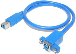 "Кабель (удлинитель) USB 3.0 тип B ""мама"" - USB тип B ""папа"", 0.5 метра"