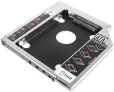"""Адаптер оптибей (optibay) 12.5мм для установки HDD 2,5"""" SATA в ноутбук вместо CD-ROM"""