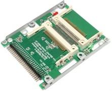 """Переходник (адаптер) Dual CF Compact Flash на IDE 2.5"""" 44pin"""