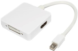 Переходник (адаптер) с Mini DisplayPort (DP) на DVI / HDMI / DisplayPort (DP)