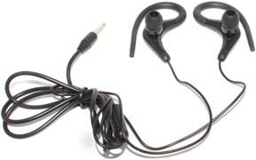 Универсальные спортивные наушники (гарнитура) с микрофоном, для телефона, чёрные