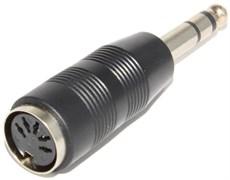 """Переходник (адаптер) DIN 5 pin """"гнездо"""" - Jack 6.3 мм """"штекер"""", стерео"""