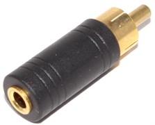"""Переходник Mini Jack 3.5 мм """"мама"""" - RCA """"Тюльпан"""" """"папа"""", позолоченный"""