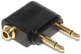 Переходник (адаптер) для наушников в самолёт, Mini Jack 3.5 мм