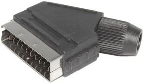 """Разъём SCART """"папа"""" (""""штекер""""), для установки на кабель, под пайку"""