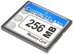 Карта памяти CompactFlash (CF), 256 Mb (0.256 Gb), 133X