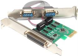 Контроллер (переходник, адаптер) PCI-E - LPT (DB-25), 2 x COM (RS-232, DB9)
