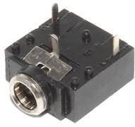 "Разъем Mini Jack 3.5 мм, на плату, стерео, ""гнездо"", 3 pin"