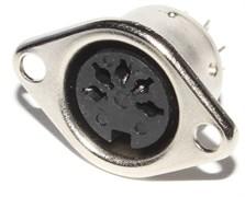 """Разъём DIN 5 Pin (5/180°) """"гнездо"""" / """"мама"""", на корпус"""
