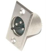 """Разъем XLR 3P (3 Pin), """"папа"""" (""""штекер""""), на корпус"""