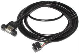 Кабель (переходник) USB 2.0 (AF) - USB 5 pin (на материнскую плату), с креплением, 3 м