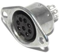 """Розетка DIN 8 Pin (ОНЦ-ВГ-5-8/16-Р-М) (DIN 45326, ГОСТ), """"мама"""" / """"гнездо"""", на корпус"""